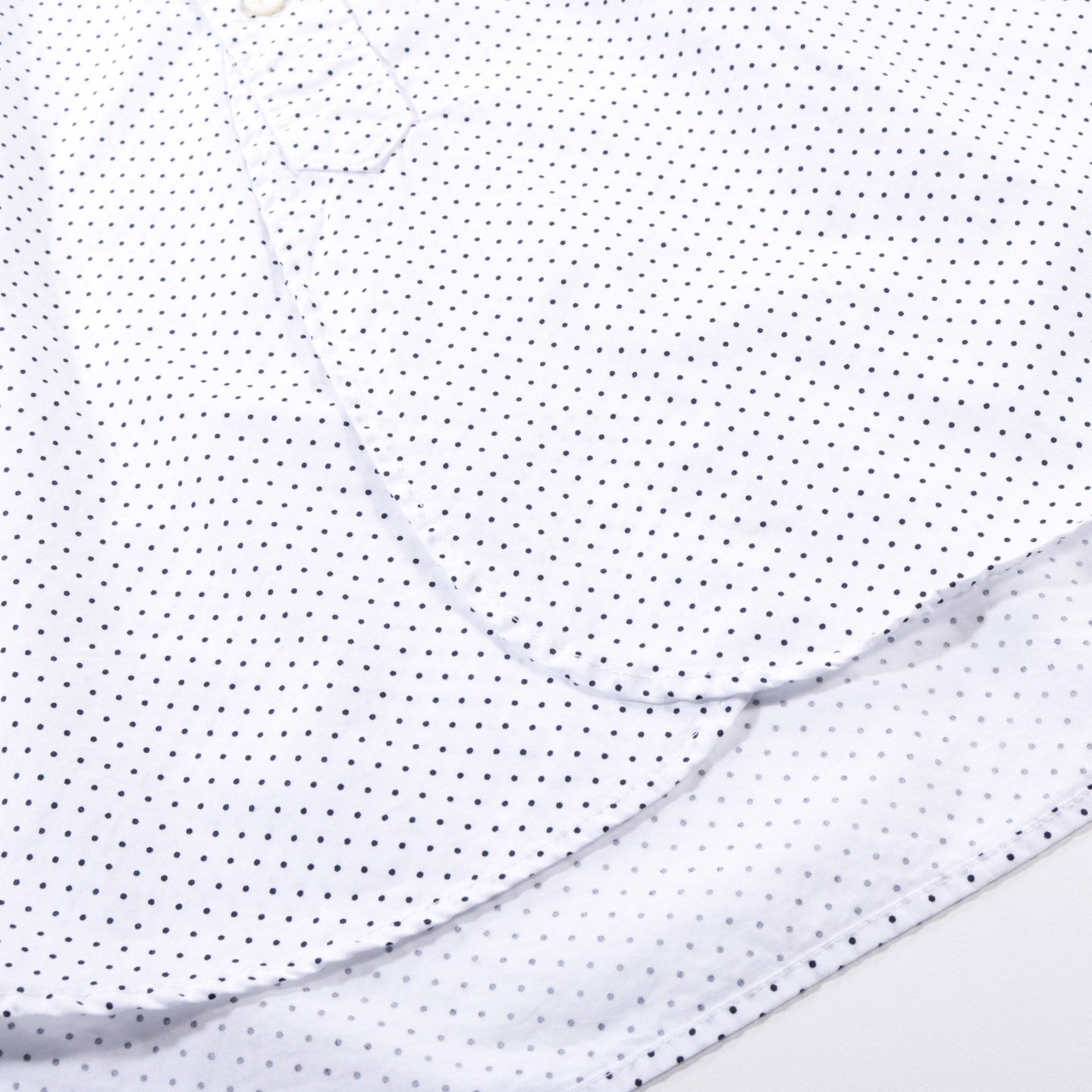 ENGINEERED GARMENTS 19 CENTURY BD SHIRT WHITE NAVY MICRO POLKA DOT BROADCLOTH