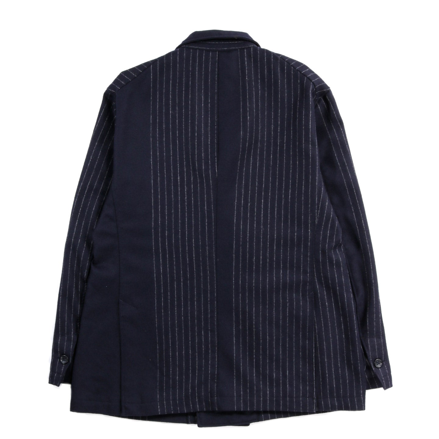 ENGINEERED GARMENTS NEWPORT JACKET DARK NAVY WOOL CHALK STRIPE