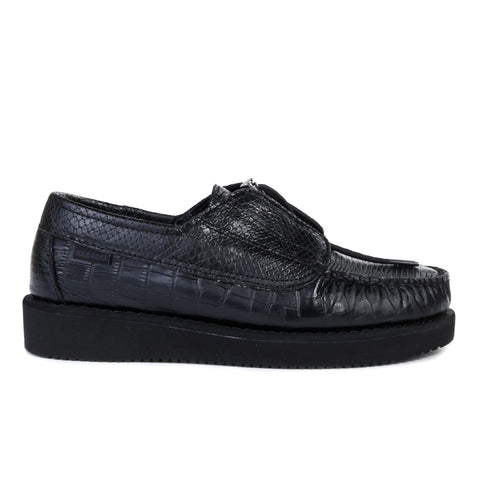 ENGINEERED GARMENTS SEBAGO COVERDECK EXOTIC BLACK