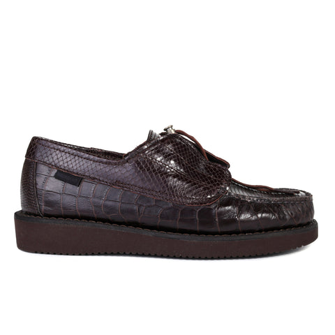ENGINEERED GARMENTS SEBAGO COVERDECK EXOTIC DARK BROWN