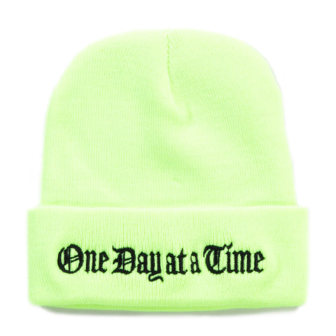 GROVELAND TIME BEANIE SAFTEY GREEN