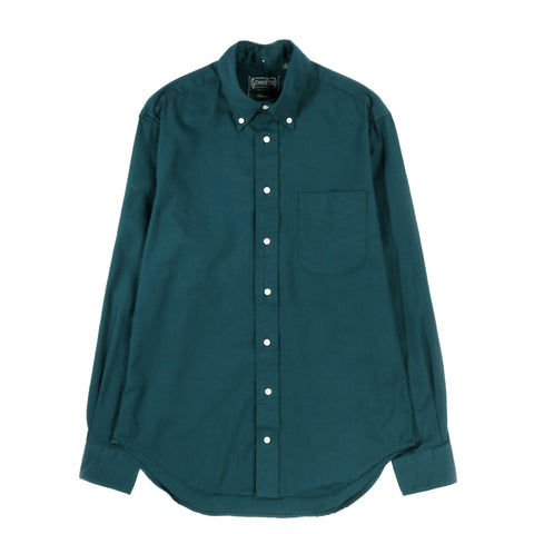GITMAN VINTAGE BUTTON DOWN OVERDYE OXFORD  EMERALD