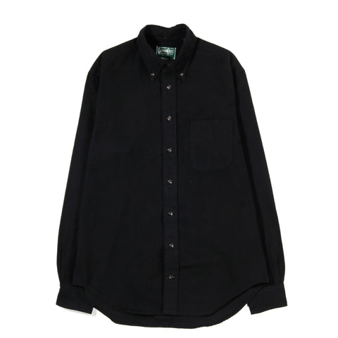 GITMAN VINTAGE BUTTON DOWN BLACK FLANNEL