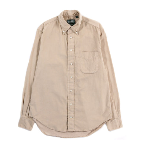 GITMAN VINTAGE BUTTON DOWN CORDUROY TAN