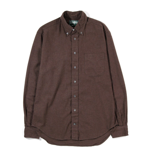 GITMAN VINTAGE BUTTON DOWN BROWN FLANNEL