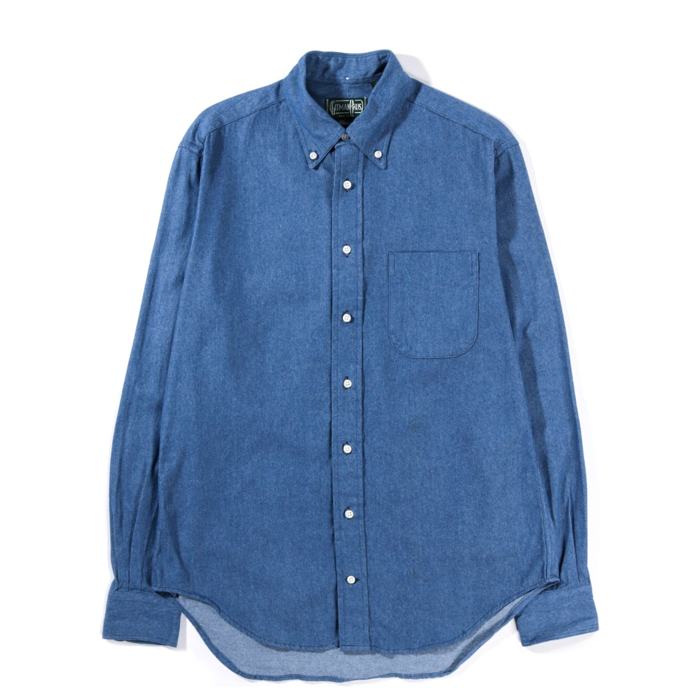GITMAN VINTAGE BUTTON DOWN NAVY FLANNEL CHAMBRAY