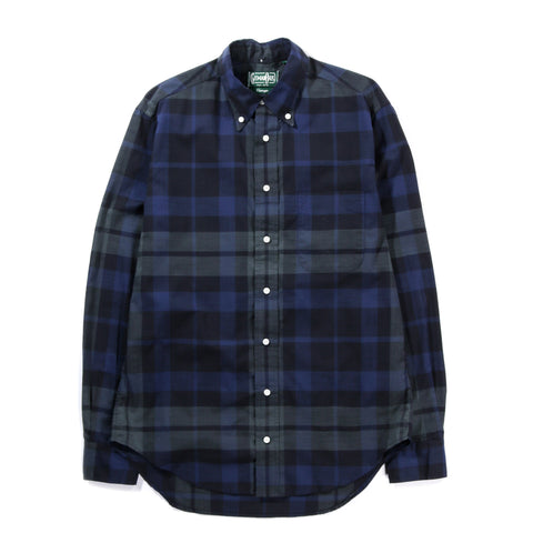 GITMAN VINTAGE BUTTON DOWN ARCHIVE COTTON MADRAS BLACKWATCH