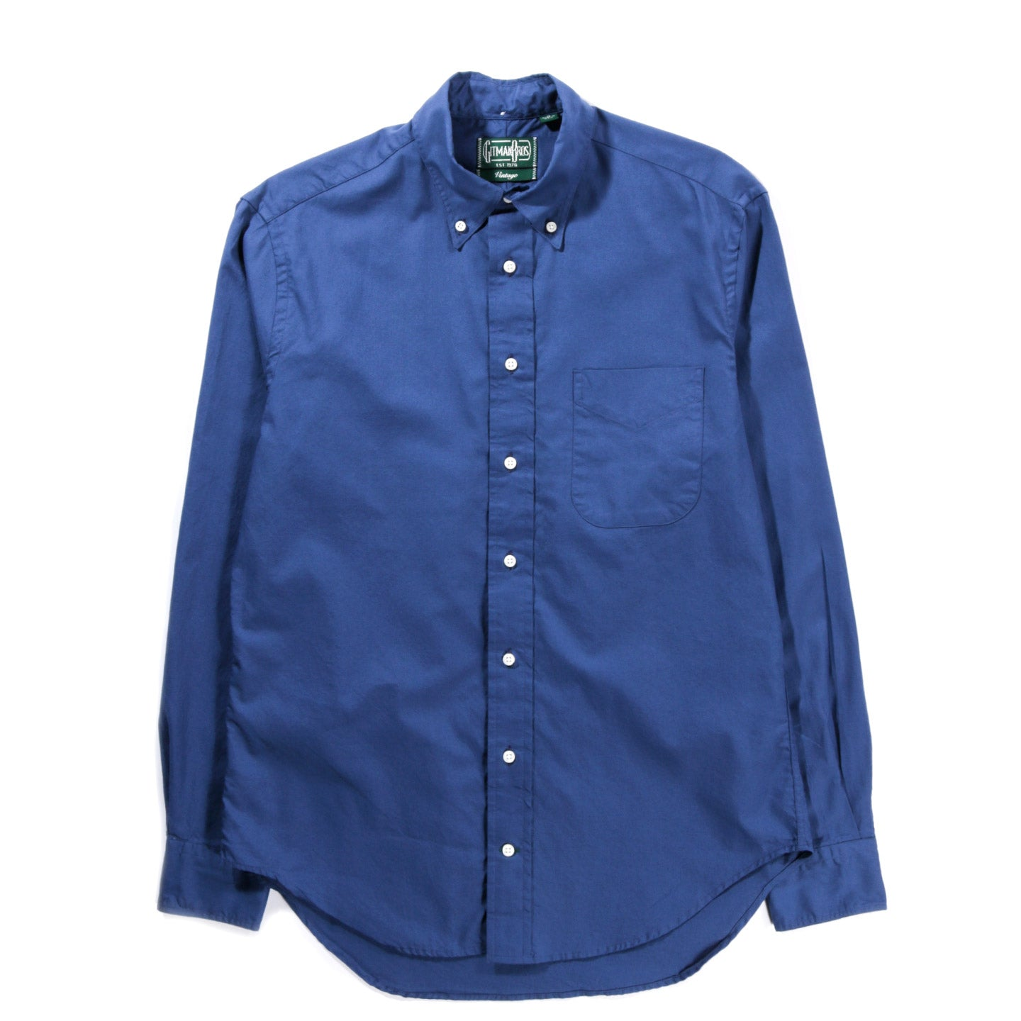 GITMAN VINTAGE BUTTON DOWN SUMMER HOPSACK NAVY