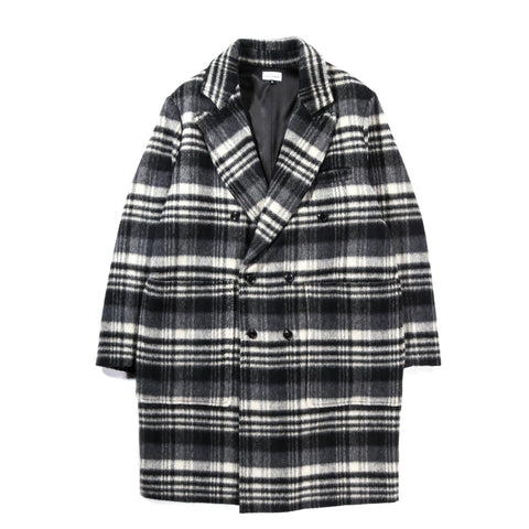 HOUSE OF ST. CLAIR PLAID CHESTERFIELD COAT