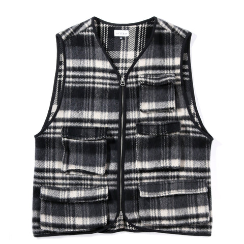 HOUSE OF ST. CLAIR PLAID MJM VEST