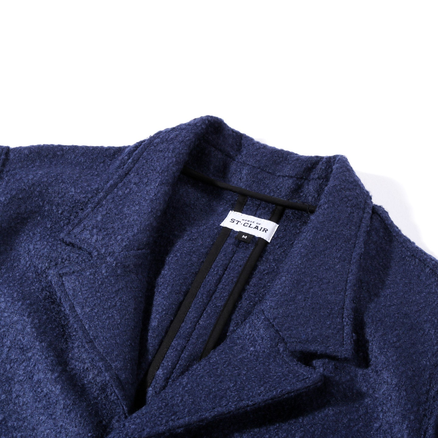 HOUSE OF ST. CLAIR CASS JACKET NAVY BOILED WOOL