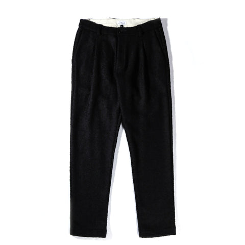 HOUSE OF ST. CLAIR CORKTOWN PLEAT TROUSER BLACK BOILED WOOL