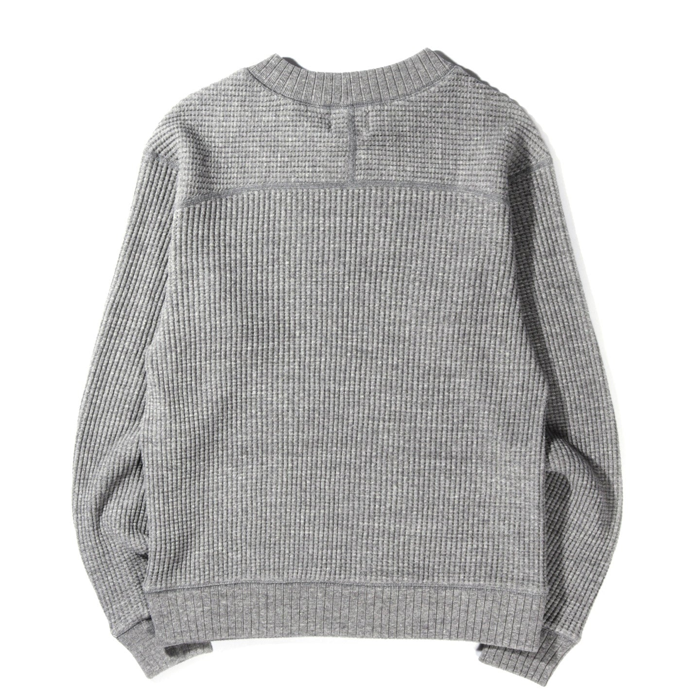 JACKMAN WAFFLE MID-NECK HEATHER GREY
