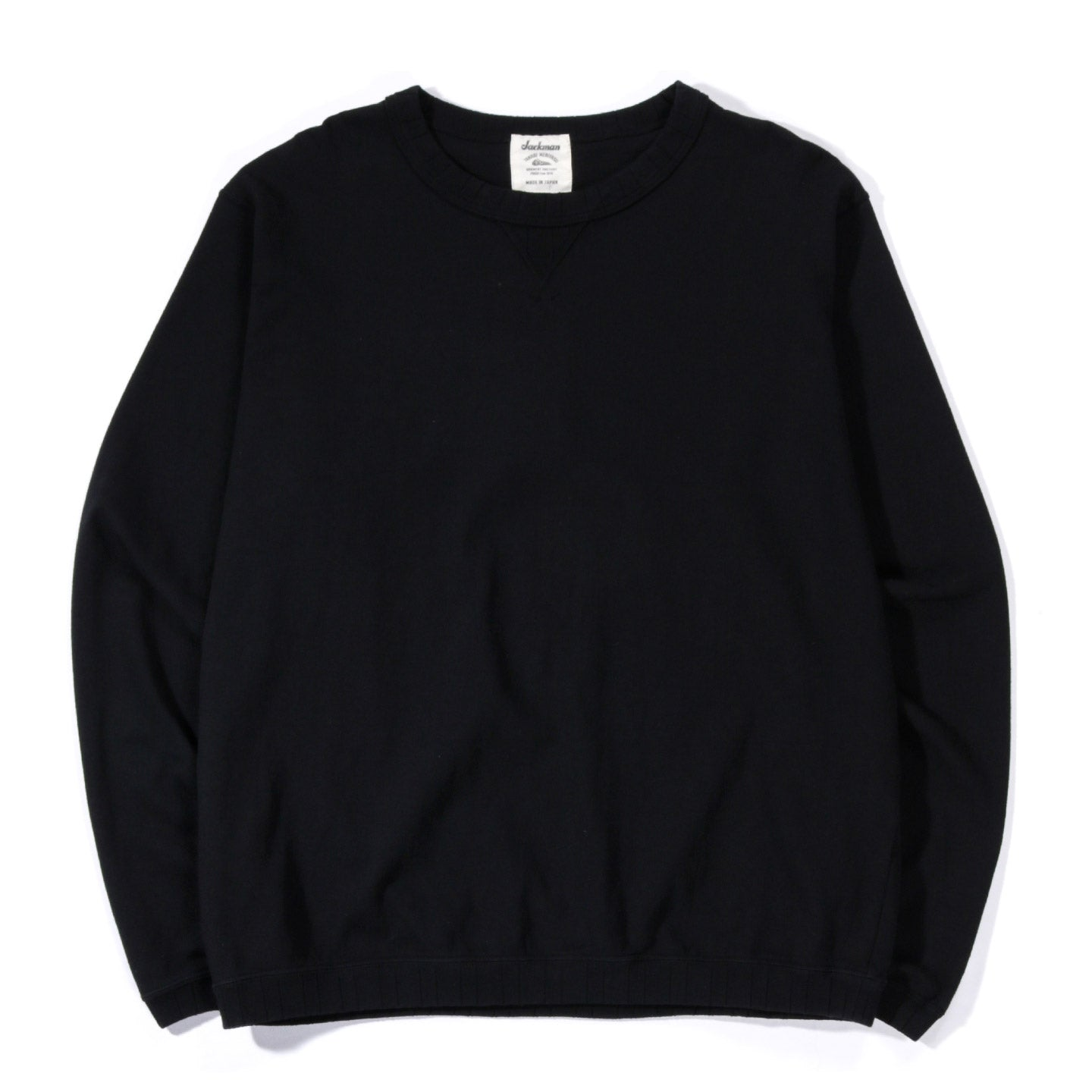 JACKMAN RIB LONG SLEEVE T-SHIRT BLACK