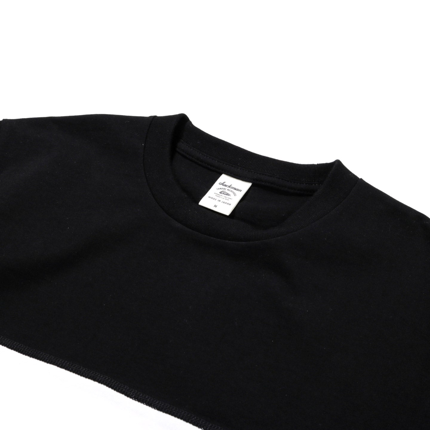 JACKMAN BORDER T-SHIRT BLACK / WHITE 2 SEAM