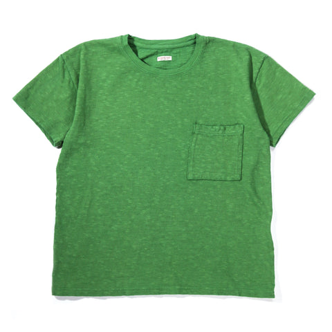 KAPITAL AMUSE KNIT POCKET T GREEN