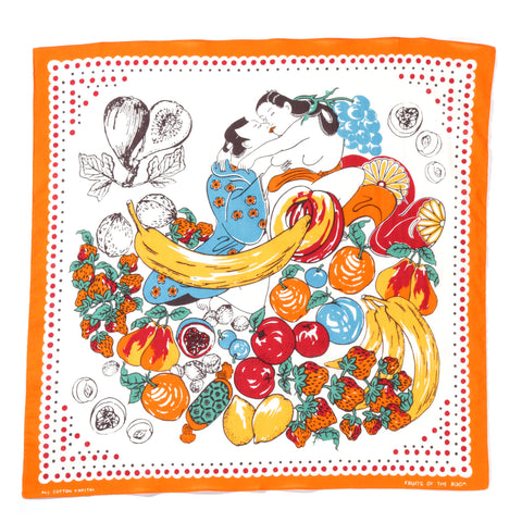 KAPITAL COLOR BANDANA FRUIT SHUNGA ORANGE