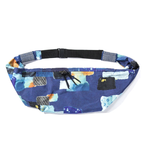KAPITAL SNUFFKIN BAG BORO TRANSFER PRINT NYLON NAVY