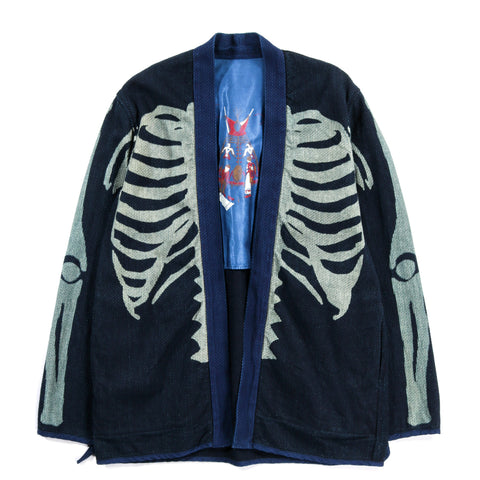 KAPITAL KOUNTRY DO-GI CANVAS SHA-KA JACKET BONE INDIGO