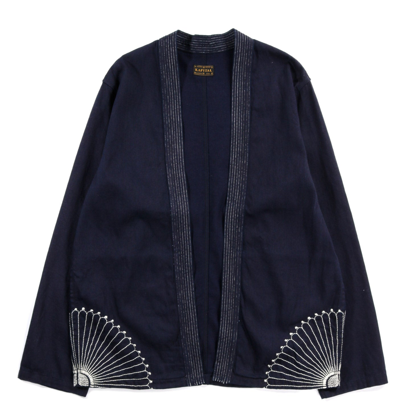 KAPITAL KATSURAGI COTTON RING COAT BLACK