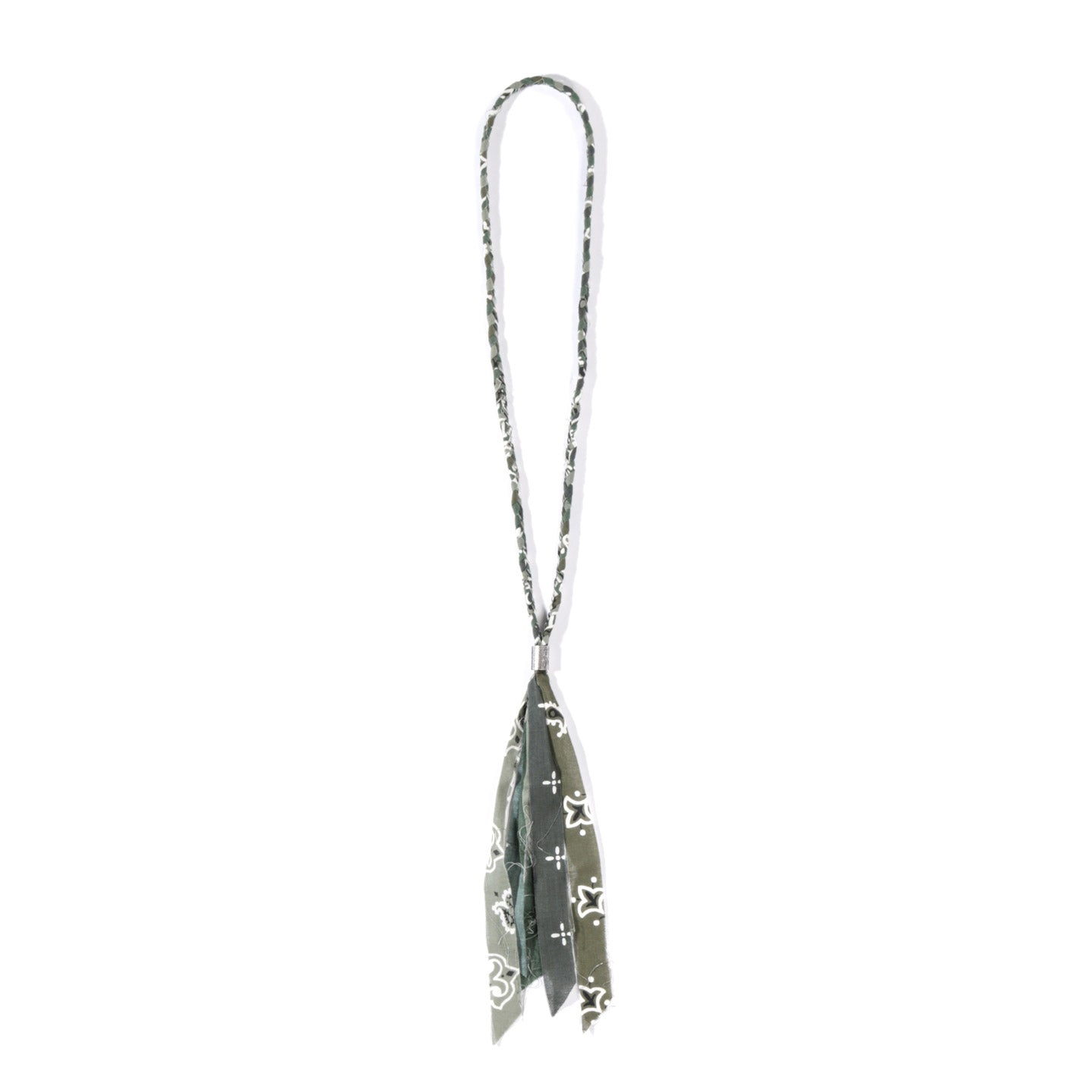 KAPITAL GAUZE BANDANA FRINGED NECKLACE KHAKI