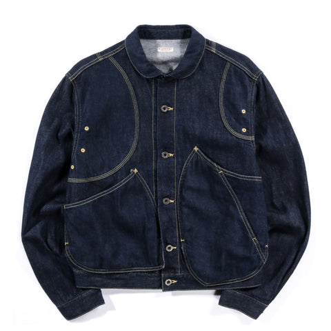 KAPITAL 11.5OZ DENIM RINGOMAN JACKET INDIGO