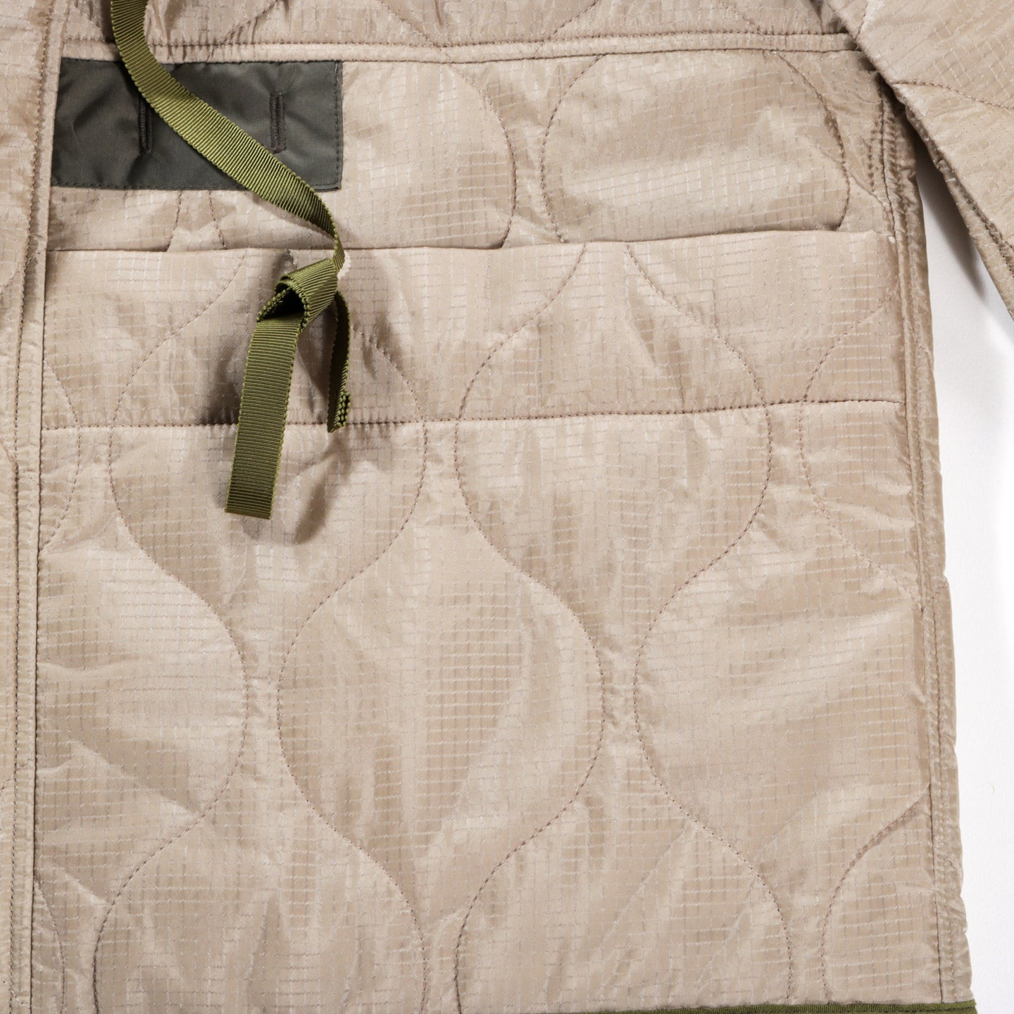 KAPITAL NYLON QUILTING LINING RING COAT BEIGE
