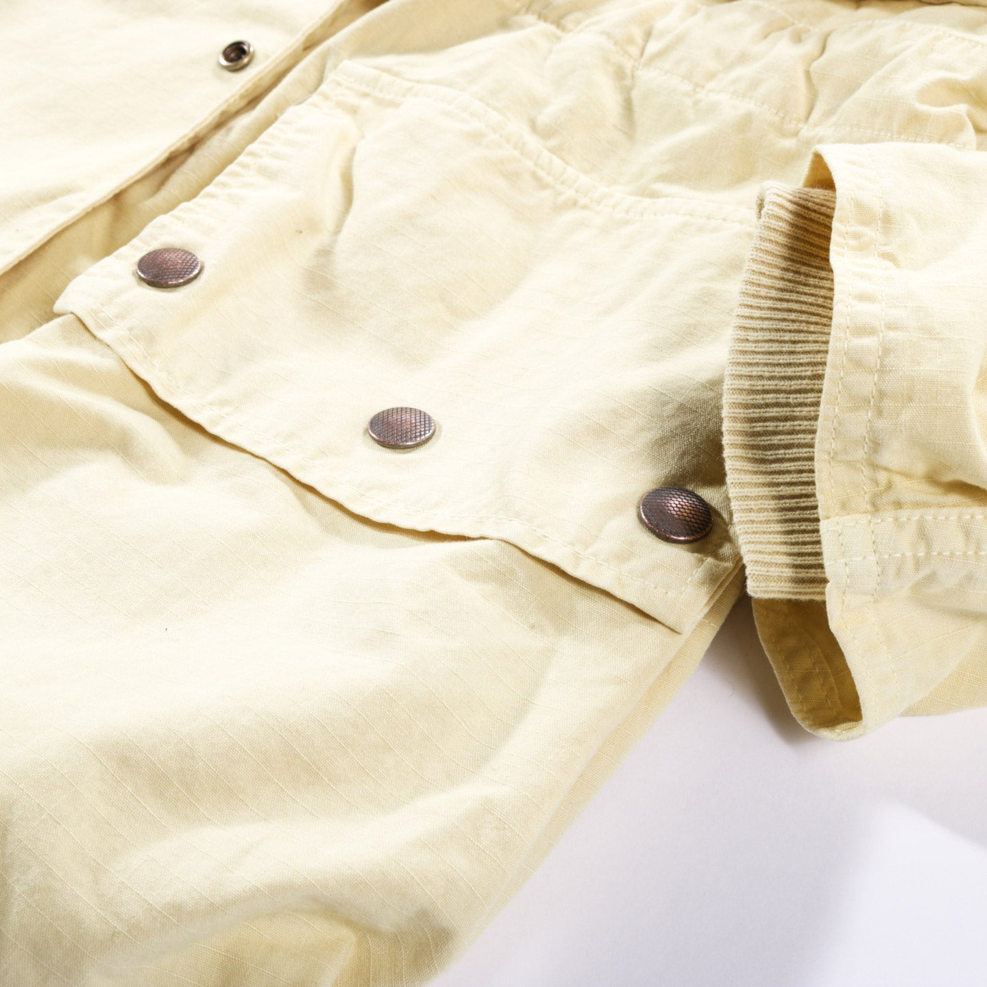 KAPITAL RIP STOP ALPINE RING COAT YELLOW