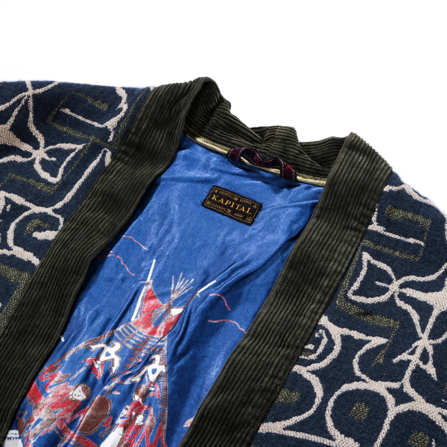 KAPITAL WOOL AINU BETSY ROSS SHA-KA JACKET GREEN