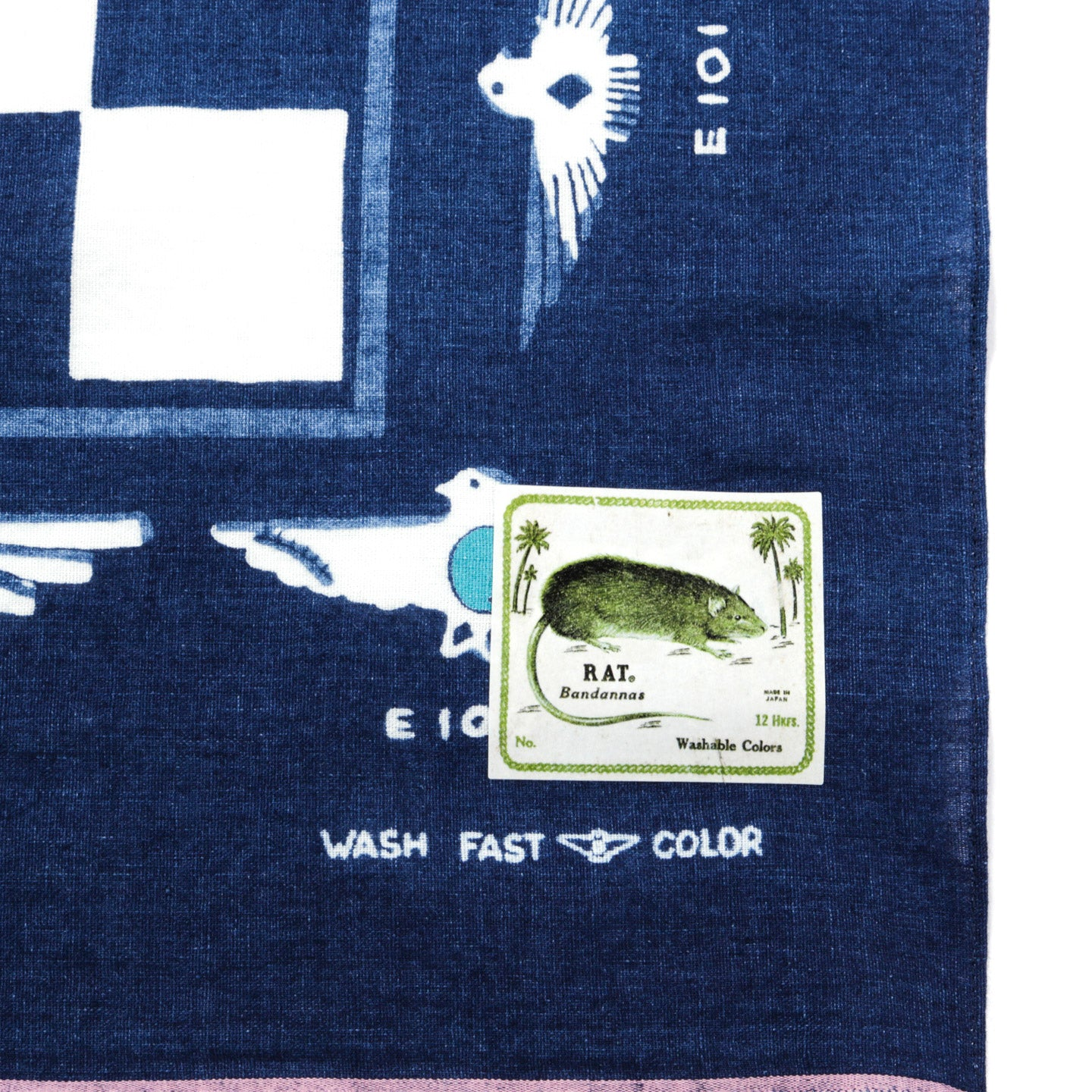 KAPITAL INDIGO DISCHARGE DYE SELVEDGE BANDANA ICHIMATSU HARVEY COLLECTION