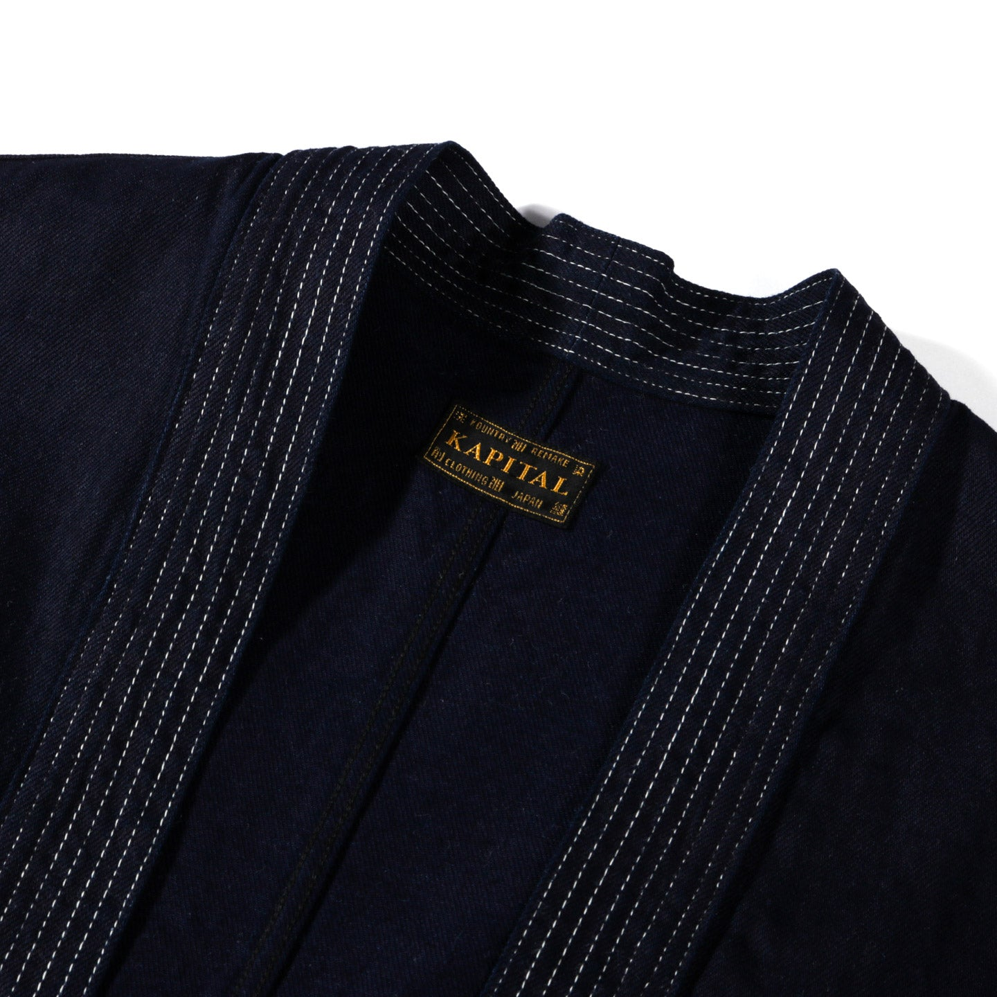 KAPITAL 8OZ DENIM KAKASHI SHIRT FUROSHIKI EMBROIDERY INDIGO