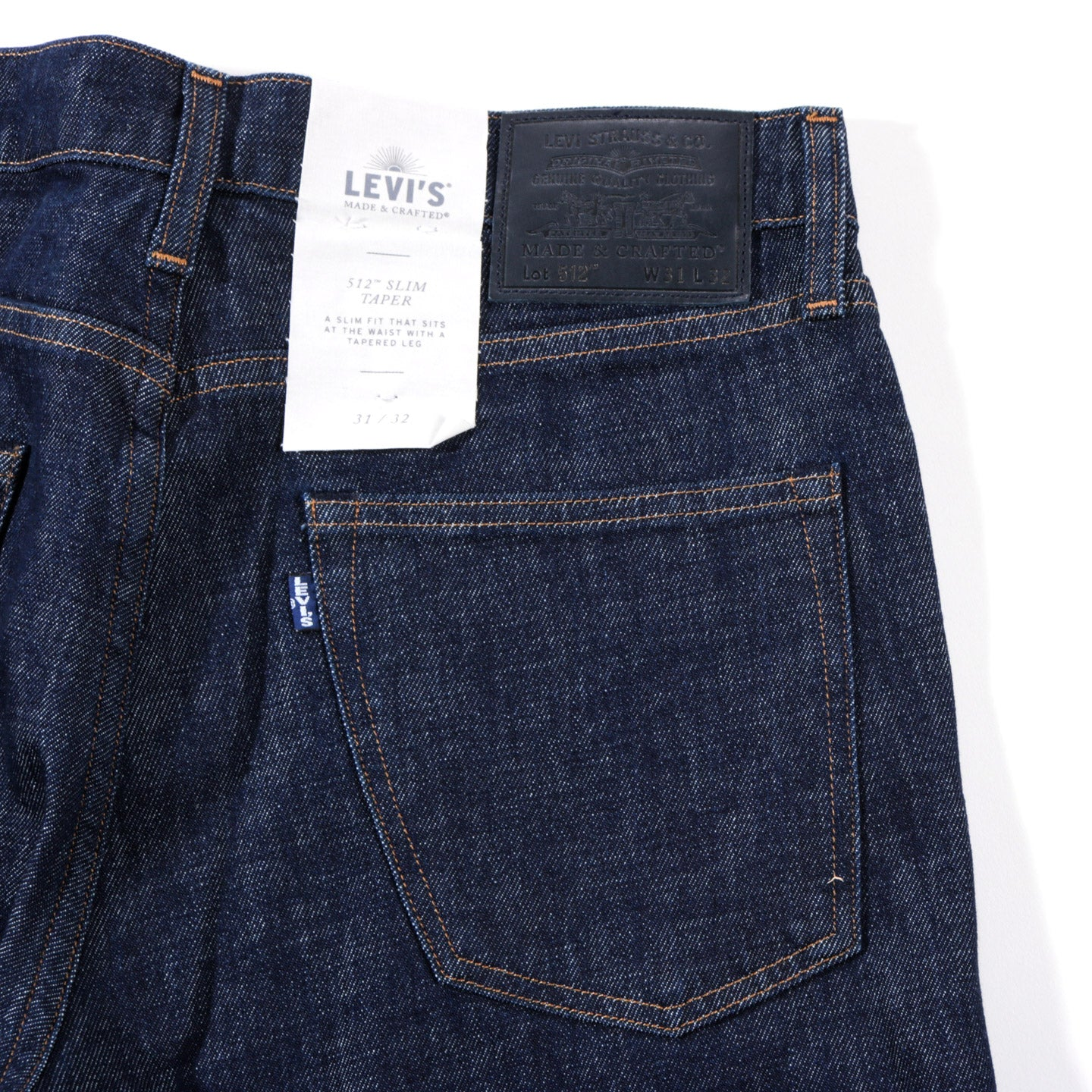 LEVI'S MADE & CRAFTED 512 INDIGO RESIN