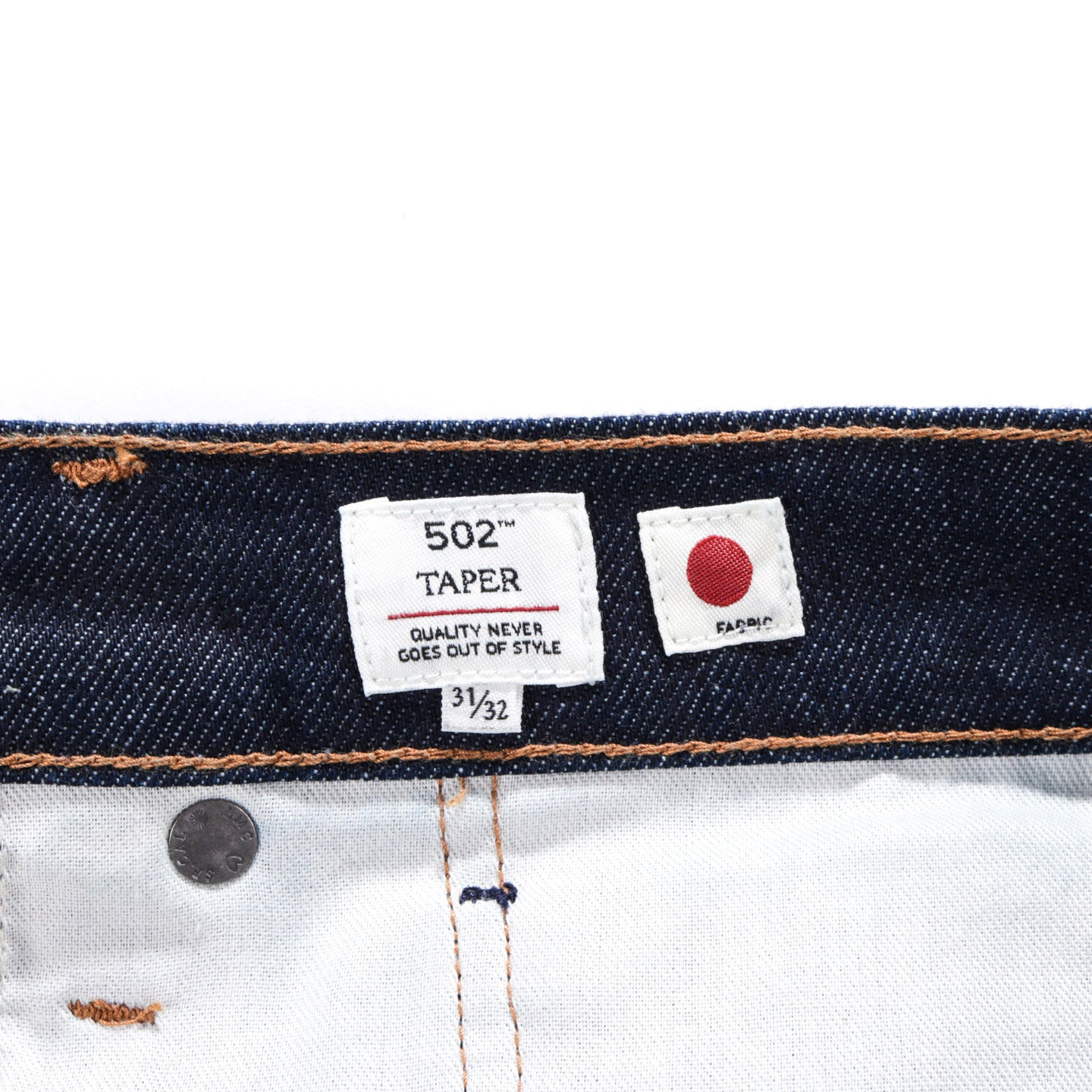 LEVI'S MADE & CRAFTED 502 REGULAR TAPERED RESIN RINSE STRETCH SELVEDGE