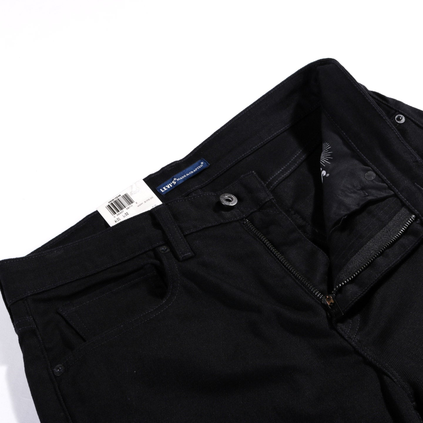LEVI'S MADE & CRAFTED TACK BLACK RINSE