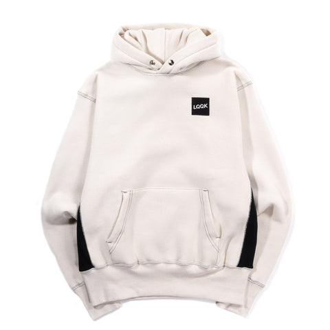 LQQK STUDIO SIGNATURE SNAP HOODIE NATURAL