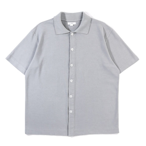 LADY WHITE CO. S/S PLACKET POLO STEEL GREY