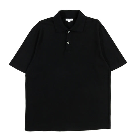 LADY WHITE CO. S/S TWO-BUTTON POLO BLACK