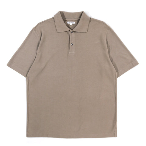 LADY WHITE CO. S/S TWO-BUTTON POLO ALMOND
