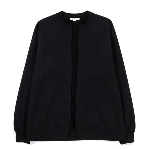 LADY WHITE CO. SPLIT CREWNECK CARDIGAN BLACK