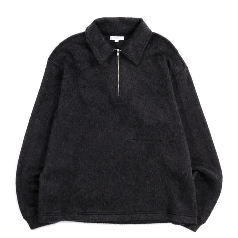 LADY WHITE CO. FURRY QUARTER ZIP BLACK