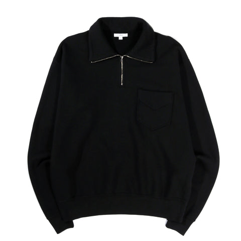 LADY WHITE CO. QUARTER ZIP POCKET SWEATSHIRT BLACK