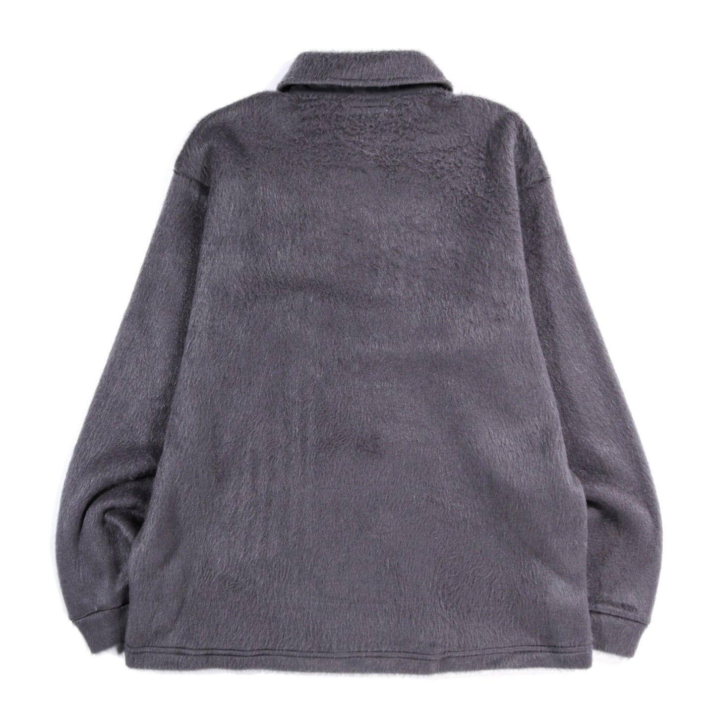 LADY WHITE CO. FURRY QUARTER ZIP STEEL GREY