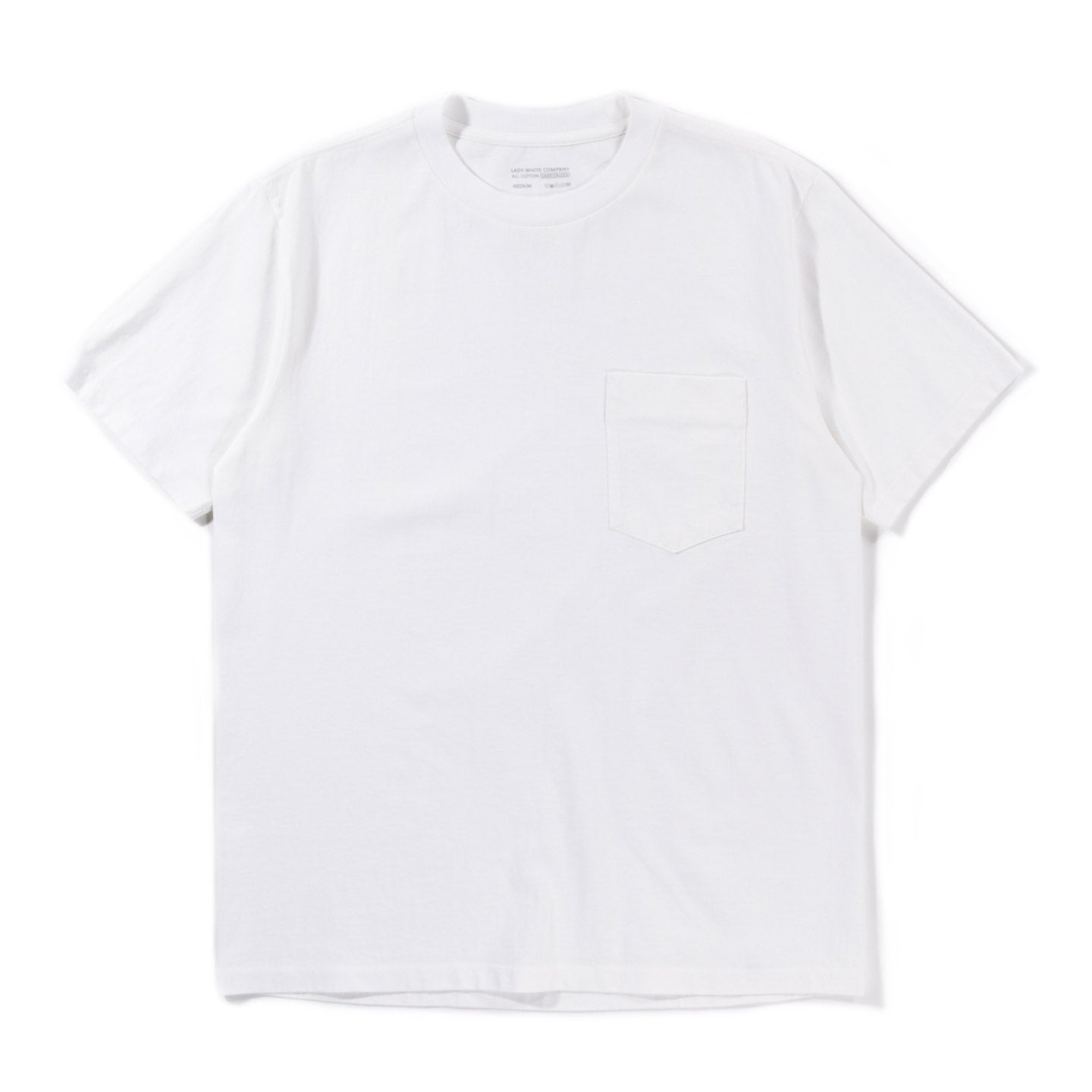 LADY WHITE CO. BALTA POCKET T-SHIRT WHITE