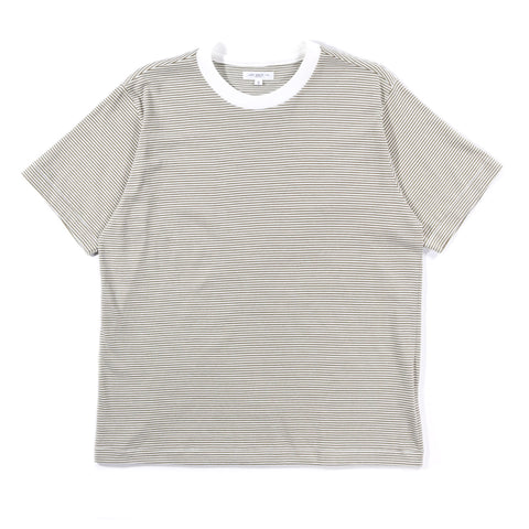 LADY WHITE CO. WAYDE STRIPE T-SHIRT OLIVE