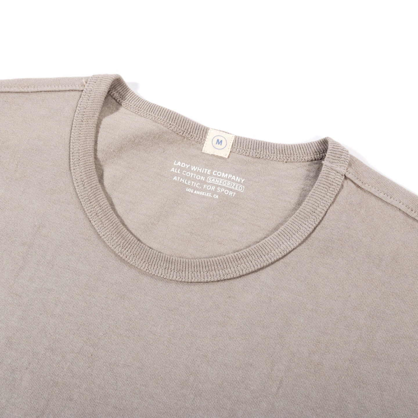 LADY WHITE CO. T-SHIRT TAUPE FOG