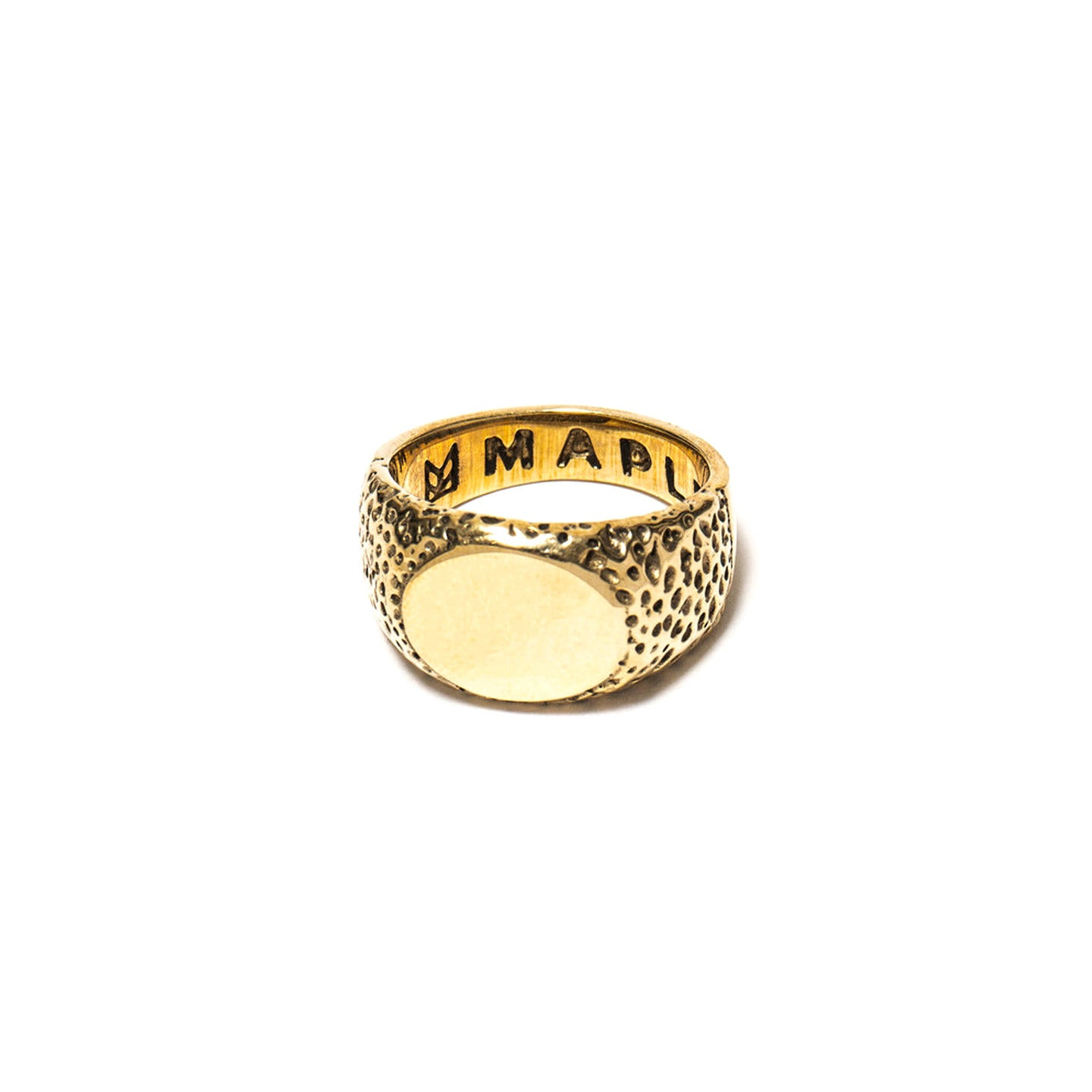 MAPLE NUGGET RING 14K GOLD PLATED