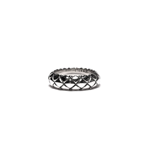 MAPLE QUILTED BAND RING SILVER 925