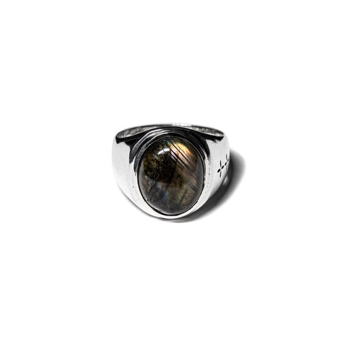 MAPLE TOMMY SIGNET RING SILVER 925 / LABRADORITE