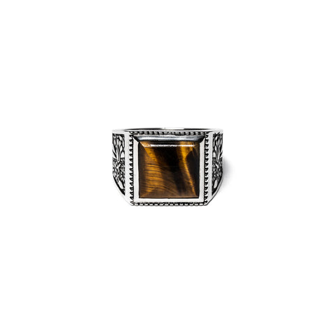 MAPLE BUICK RING SILVER 925 / TIGER EYE