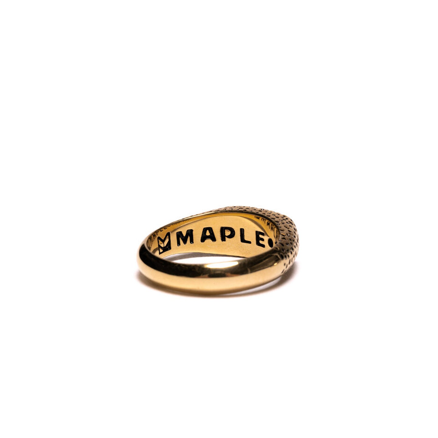 MAPLE NUGGET RING SLIM 14K GOLD PLATED